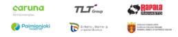 Logot: caruna, TLT, Rapala, Paimionjoki-yhdistys, Varsinais-Suomen ELY-keskus, Varsinais-Suomen liitto