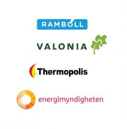 Logot: Ramboll, Valonia, Thermopolis, energimyndigheten