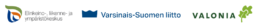 Valonian, ELYn ja Varsinais-Suomen liiton logot