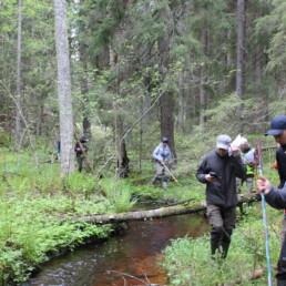 Asiantuntijat tutustuivat puroinventointimenetelmään